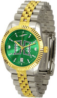 Hawaii Warriors Executive  2-Tone 23k Gold AnoChrome Stainless Steel Watch - Red Dial (Men's or Women's)