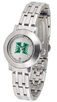 Hawaii Warriors Ladies Silver Stainless Steel Dynasty Watch - White Dial