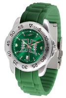 Hawaii Warriors Sport AC™AnoChrome Watch - Red Silicone Band