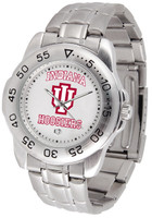 Indiana Hoosiers Sport Stainless Steel Watch White Dial (Men's or Women's)