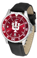 Indiana Hoosiers Competitor Leather AnoChrome Leather Watch - Red Dial w/Colored Bezel (Men's or Women's)