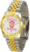 Indiana Hoosiers Executive  2-Tone 23k Gold Stainless Steel Watch - White Dial (Men's or Women's)
