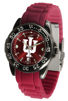 Indiana Hoosiers Fantom AC™ Gunmetal Sport AnoChrome Watch - Red Silicone Band