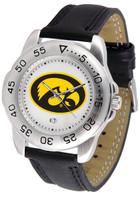 Iowa Hawkeyes Sport Leather Watch White Dial (Men's or Women's)