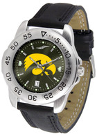 Iowa Hawkeyes Sport Leather AnoChrome Watch Red Dial (Men's or Women's)