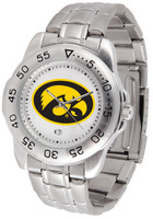 Iowa Hawkeyes Sport Stainless Steel Watch White Dial (Men's or Women's)