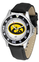 Iowa Hawkeyes Competitor Leather Watch White Dial (Men's or Women's)