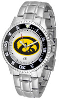 Iowa Hawkeyes Competitor Stainless Steel Watch - White Dial (Men's or Women's)