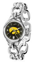 Iowa Hawkeyes Ladies Silver Eclipse Link AnoChrome Watch - Red Dial
