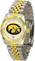 Iowa Hawkeyes Executive  2-Tone 23k Gold Stainless Steel Watch - White Dial (Men's or Women's)
