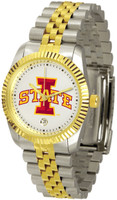 Iowa State Cyclones Executive  2-Tone 23k Gold Stainless Steel Watch - White Dial (Men's or Women's)