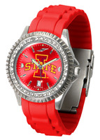 Iowa State Cyclones Sparkle AnoChrome Sport  Watch - Red Silicone Band