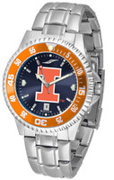Illinois Fighting Illini  Competitor Stainless Steel AnoChrome - Red Dial (Men's or Women's)