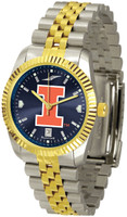Illinois Fighting Illini  Executive  2-Tone 23k Gold AnoChrome Stainless Steel Watch - Red Dial (Men's or Women's)