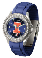 Illinois Fighting Illini  Sparkle AnoChrome Sport  Watch - Red Silicone Band