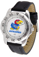Kansas Jayhawks  Sport Leather Watch White Dial (Men's or Women's)