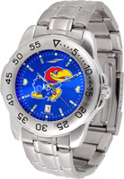 Kansas Jayhawks  Sport Stainless Steel AnoChrome Watch Color Dial (Men's or Women's)
