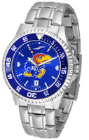 Kansas Jayhawks  Competitor Stainless Steel AnoChrome - Color Dial (Men's or Women's)