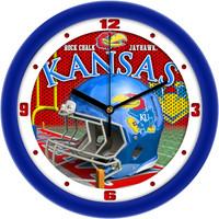 Kansas Jayhawks  12 Inch Round Wall Clock