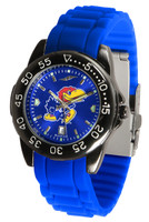 Kansas Jayhawks  Fantom AC™ Gunmetal Sport AnoChrome Watch - Silicone Band