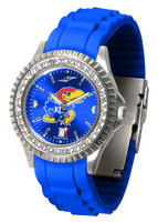 Kansas Jayhawks  Sparkle AnoChrome Sport  Watch - Silicone Band
