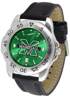 Marshall Thundering Herd  Sport Leather AnoChrome Watch Green Dial (Men's or Women's)