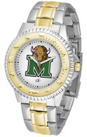 Marshall Thundering Herd  Competitor 2-Tone 23k Gold Stainless Steel Watch - White Dial (Men's or Women's)