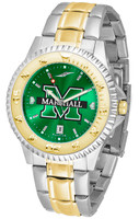 Marshall Thundering Herd  Competitor 2-Tone 23k Gold AnoChrome Stainless Steel Watch (Men's or Women's)