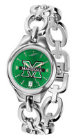 Marshall Thundering Herd  Ladies Silver Eclipse Link AnoChrome Watch - Red Dial