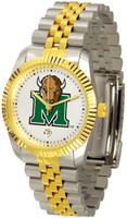 Marshall Thundering Herd  Executive  2-Tone 23k Gold Stainless Steel Watch - White Dial (Men's or Women's)