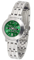 Marshall Thundering Herd  Ladies Silver Stainless Steel Dynasty AnoChrome - Color Dial