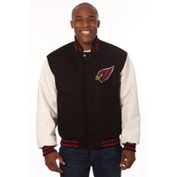 *Arizona Cardinals Heavyweight Leather and Wool Jacket
