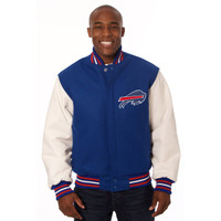 *Buffalo Bills Heavyweight Leather and Wool Jacket