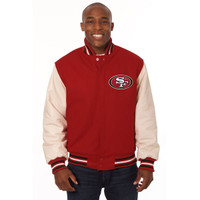 *San Francisco 49ers Heavyweight Leather and Wool Jacket