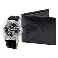 *Atlanta Falcons NFL Men's Leather Watch and Leather Wallet Gift Set