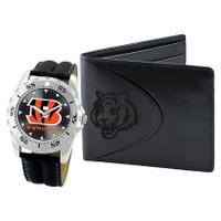 *Cincinnati Bengals NFL Men's Leather Watch and Leather Wallet Gift Set