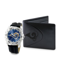 Los Angeles Rams  NFL Men's Leather Watch and Leather Wallet Gift Set