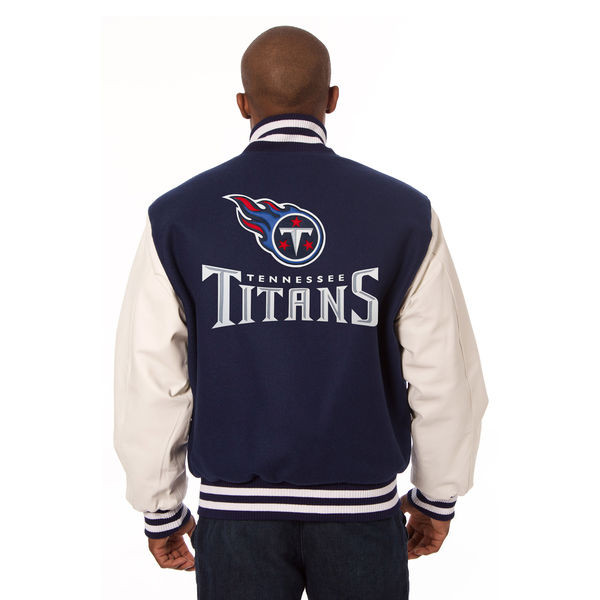 hot sale online e0e85 f1367 *Tennessee Titans NFL Men's Heavyweight Wool and Leather Jacket