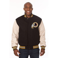 *Washington Redskins NFL Men's Heavyweight Wool and Leather Jacket
