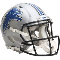 *Detroit Lions Authentic Proline Riddell Revolution Speed Football Helmet