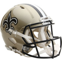 *New Orleans Saints Authentic Proline Riddell Revolution Speed Football Helmet