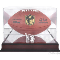 *Arizona Cardinals Mahogany Football Team Logo Display Case with Mirror Back