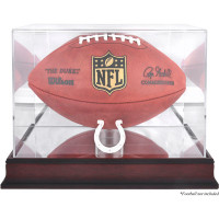 *Indianapolis Colts Mahogany Football Team Logo Display Case with Mirror Back