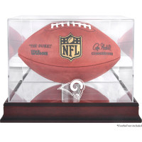 Los Angeles Rams Mahogany Football Team Logo Display Case with Mirror Back
