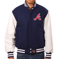 Atlanta Braves MLB Mens Heavyweight Wool and Leather Jacket