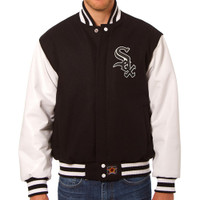 Chicago White Sox MLB Mens Heavyweight Wool and Leather Jacket