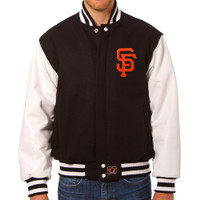 San Francisco Giants MLB Mens Heavyweight Wool and Leather Jacket