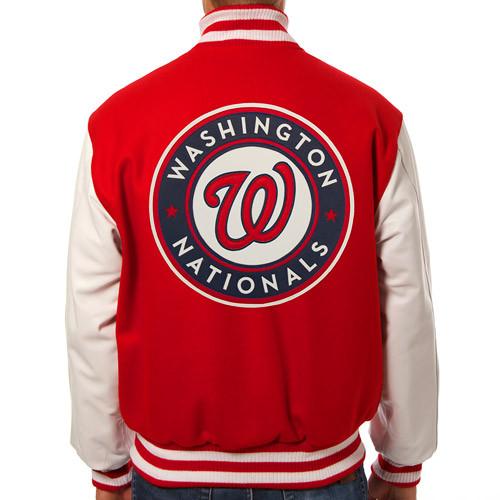 Washington Nationals Mlb Mens Heavyweight Wool And Leather Jacket