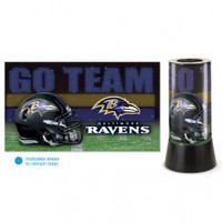 Baltimore Ravens Rotating Team Lamp