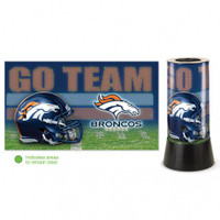 Denver Broncos Rotating Team Lamp